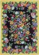 deerfield floral damask area rug